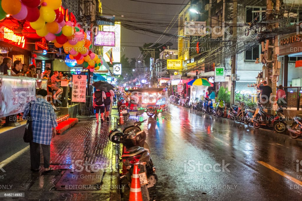 Soi 4 Nightlife Area In Bangkok, Thailand stock photo