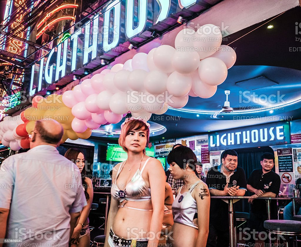 Soi Cowboy red light district in Bangkok Thailand stock photo