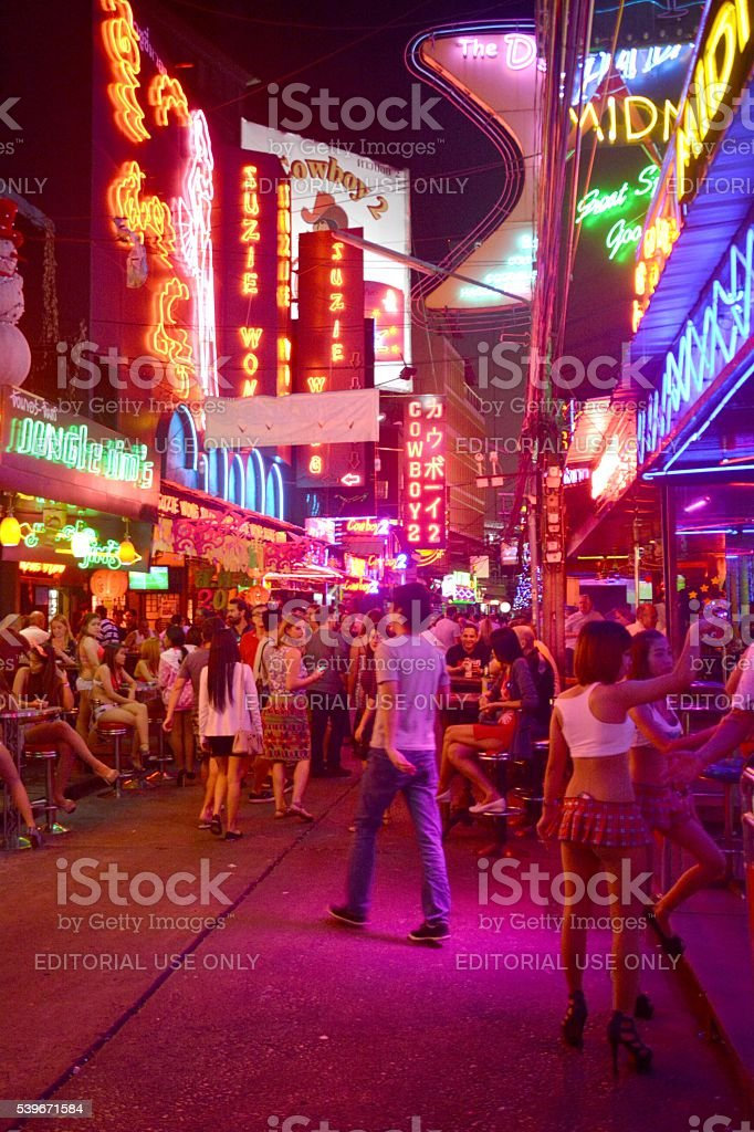 Soi Cowboy red lights, Bangkok, Thailand stock photo
