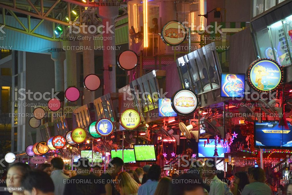 Soi Dragon bars on Bangla Road, Patong beach stock photo