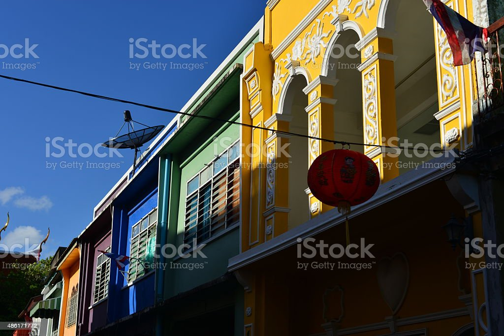 Soi Romani, Phuket, Thailand. stock photo