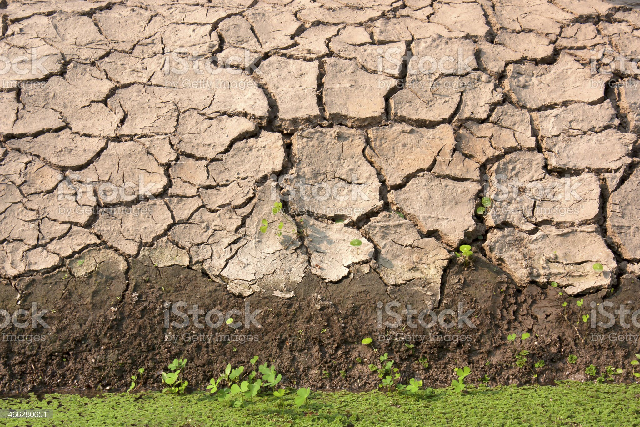Soil along the canal. royalty-free stock photo