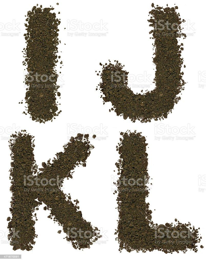 Soil alphabet royalty-free stock photo
