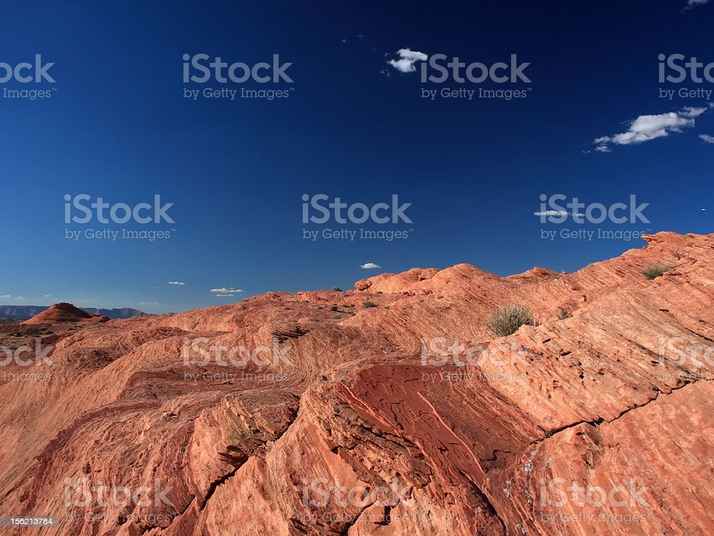 Soil formation on the bank of lake Powell stock photo