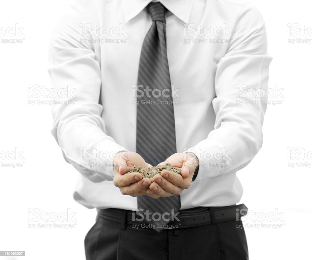 Soil in hands royalty-free stock photo