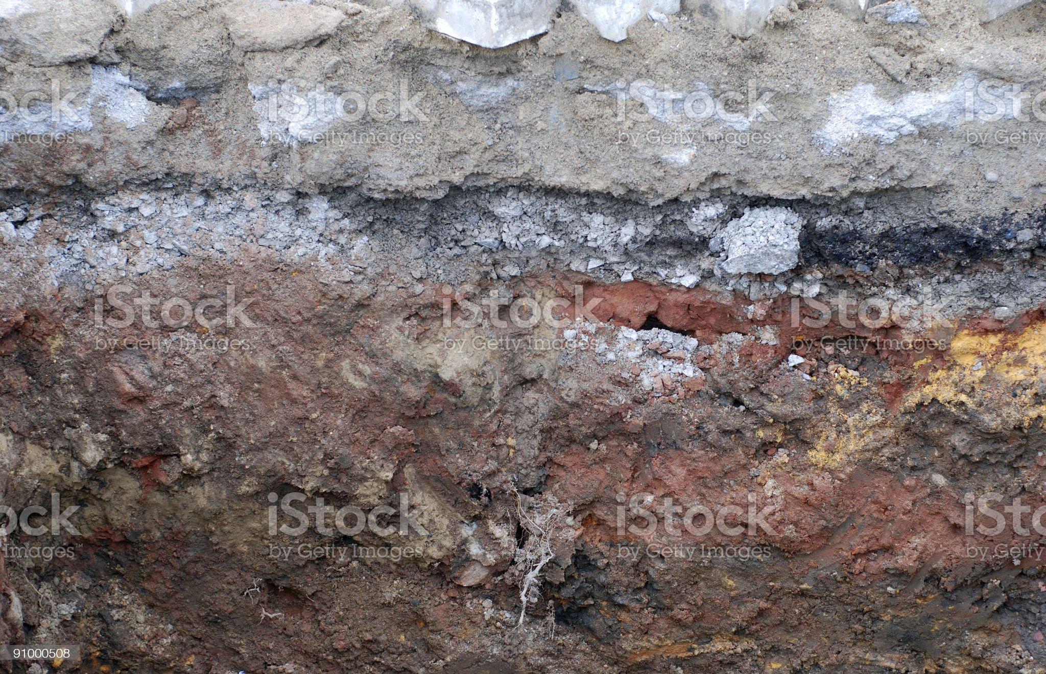 Soil layers royalty-free stock photo