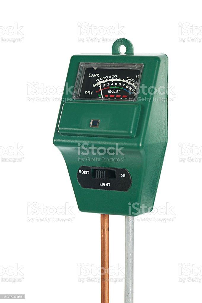 Soil pH Moisture Light meter stock photo