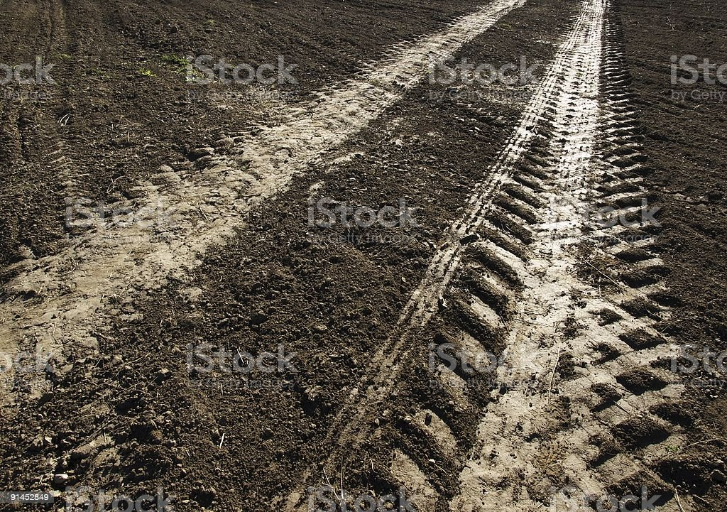 Soil road royalty-free stock photo