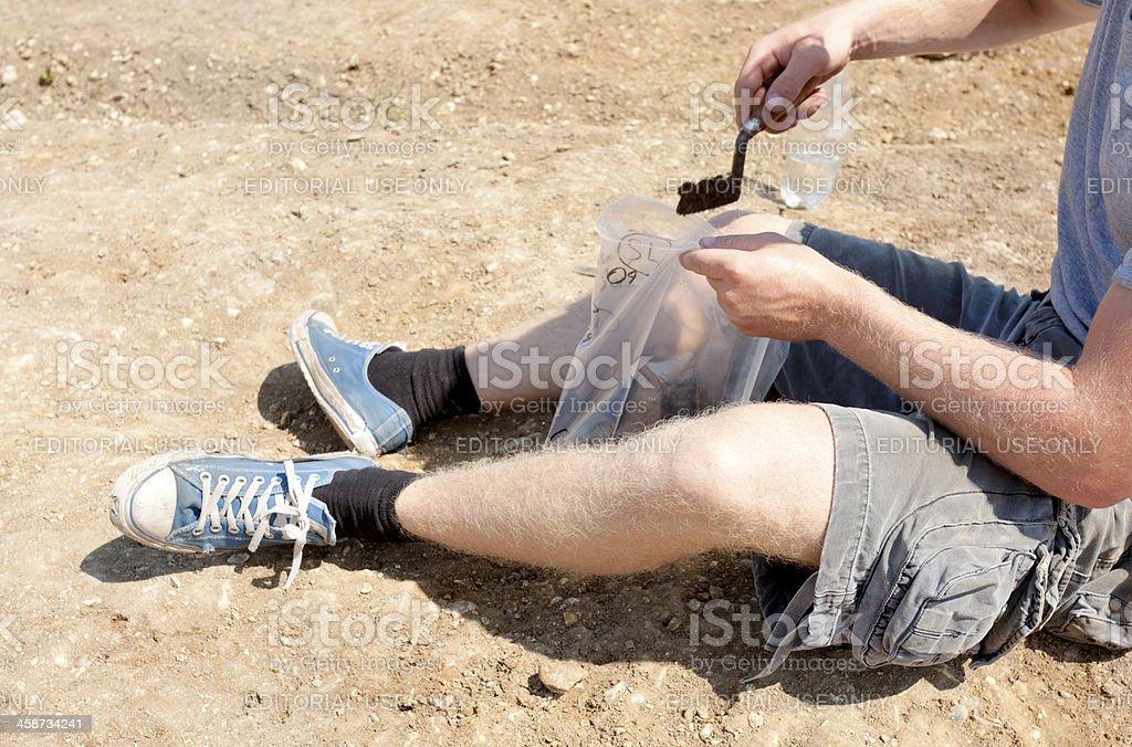 Soil sample royalty-free stock photo
