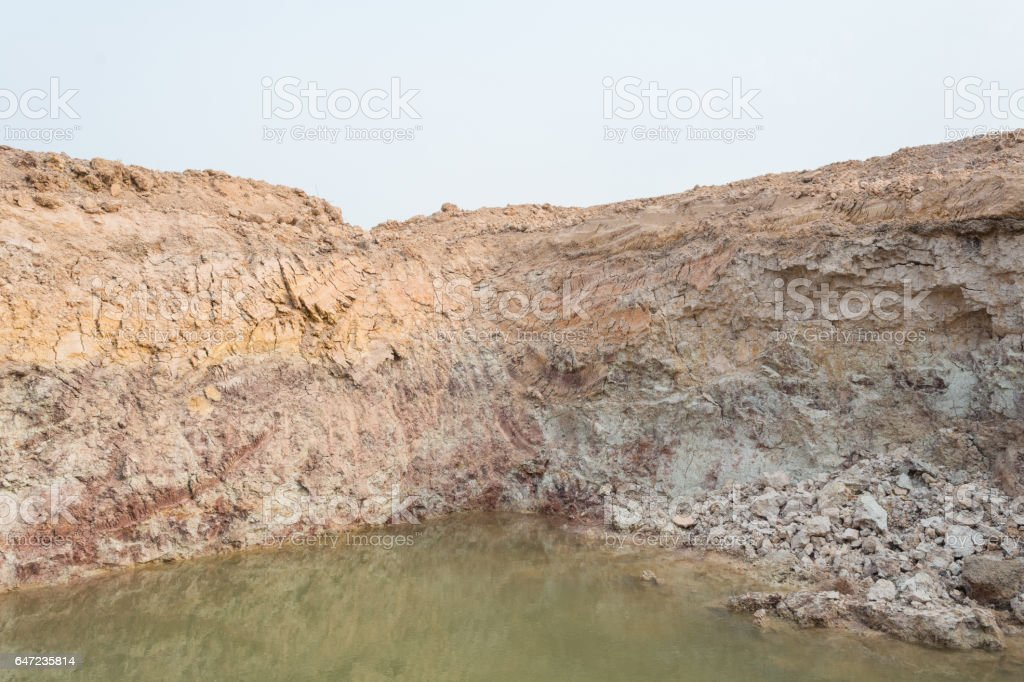 soil section stock photo