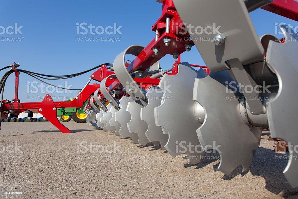 soil shredder stock photo