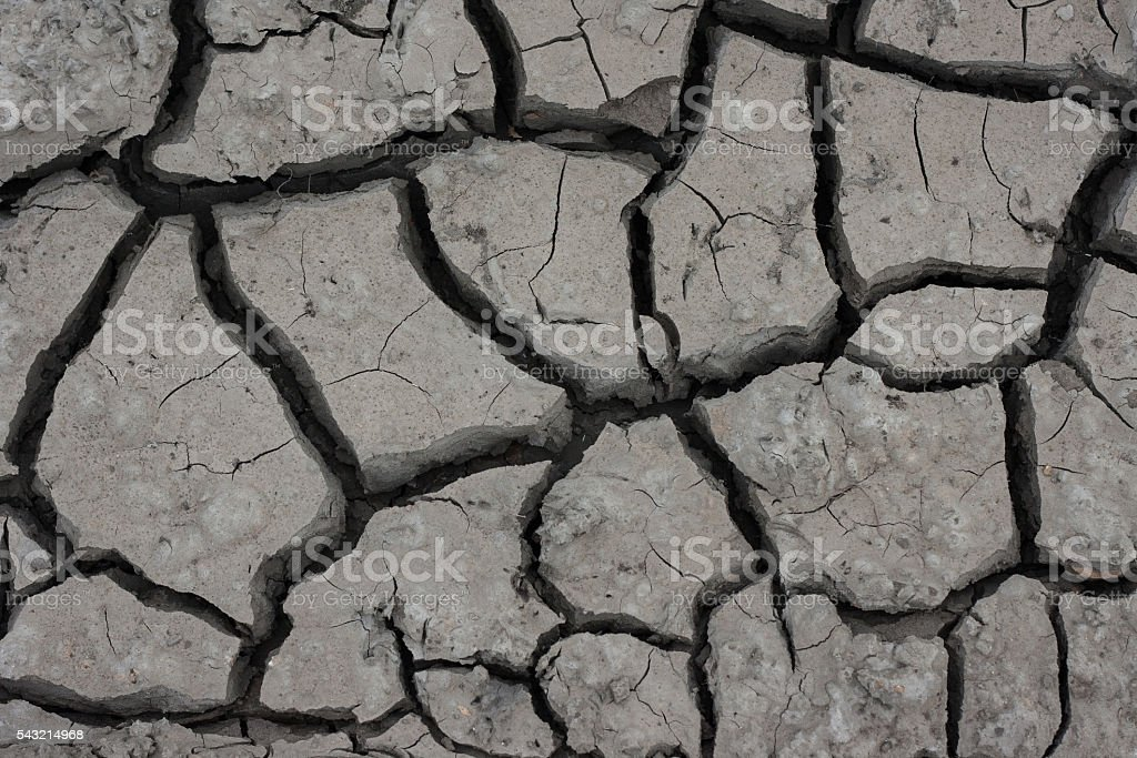 Soil structure crack drought stock photo