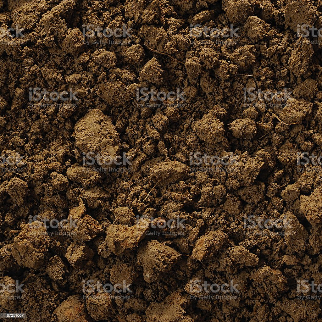 Soil surface background stock photo