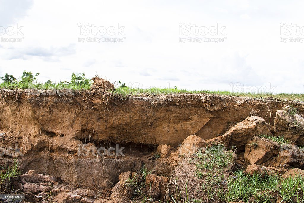 Soil to water erosion. royalty-free stock photo