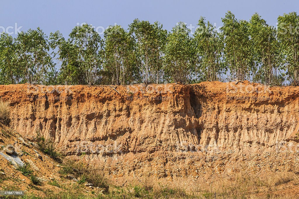 Soil under condition of the erosion. stock photo