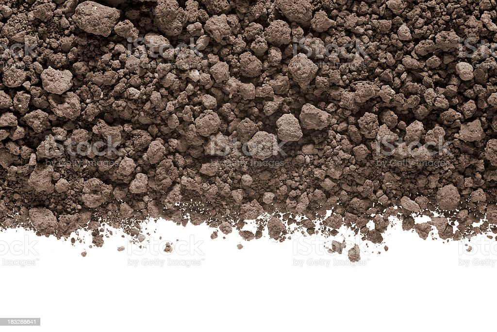 Soil with rocks royalty-free stock photo