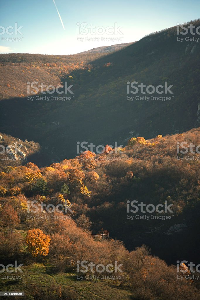 Soko grad in the autumn stock photo