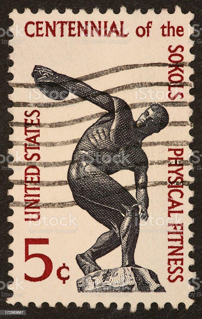 Sokol fitness stamp royalty-free stock photo