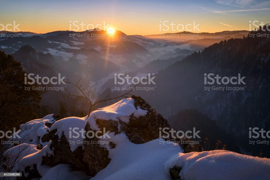 Sokolica in winter stock photo