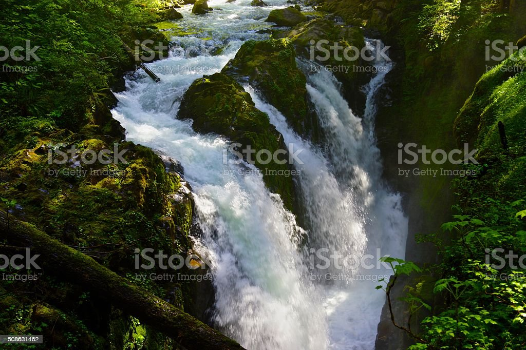 Sol Duc Falls stock photo