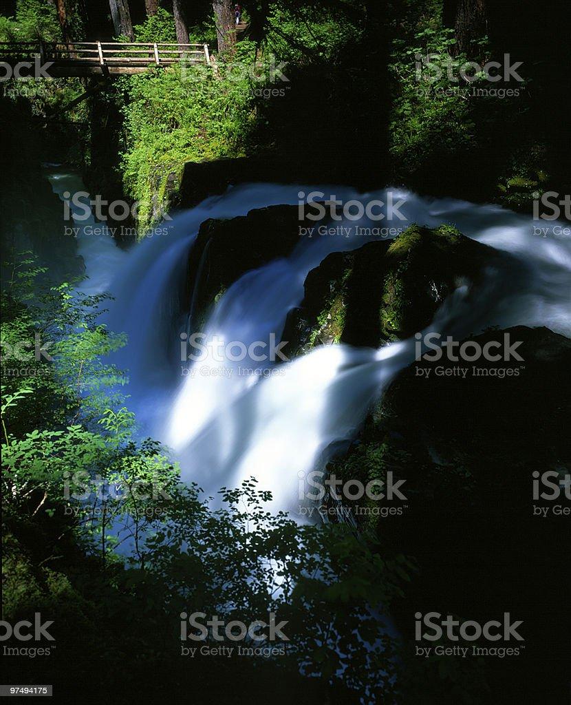 Sol Duc Waterfalls stock photo