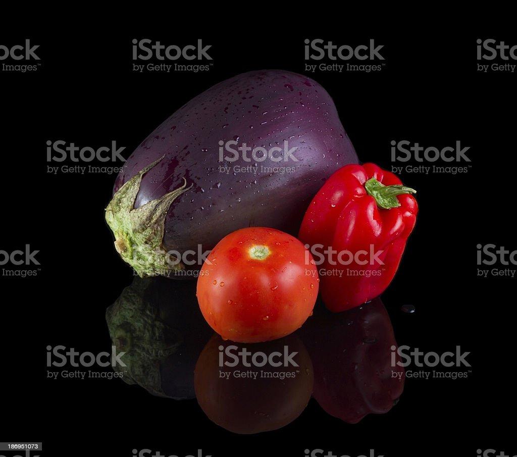 Solanaceae veggetables. royalty-free stock photo