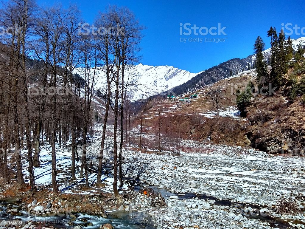 Solang Valley stock photo