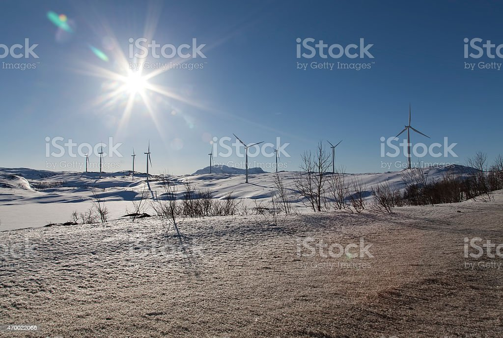 Solar and wind energy royalty-free stock photo