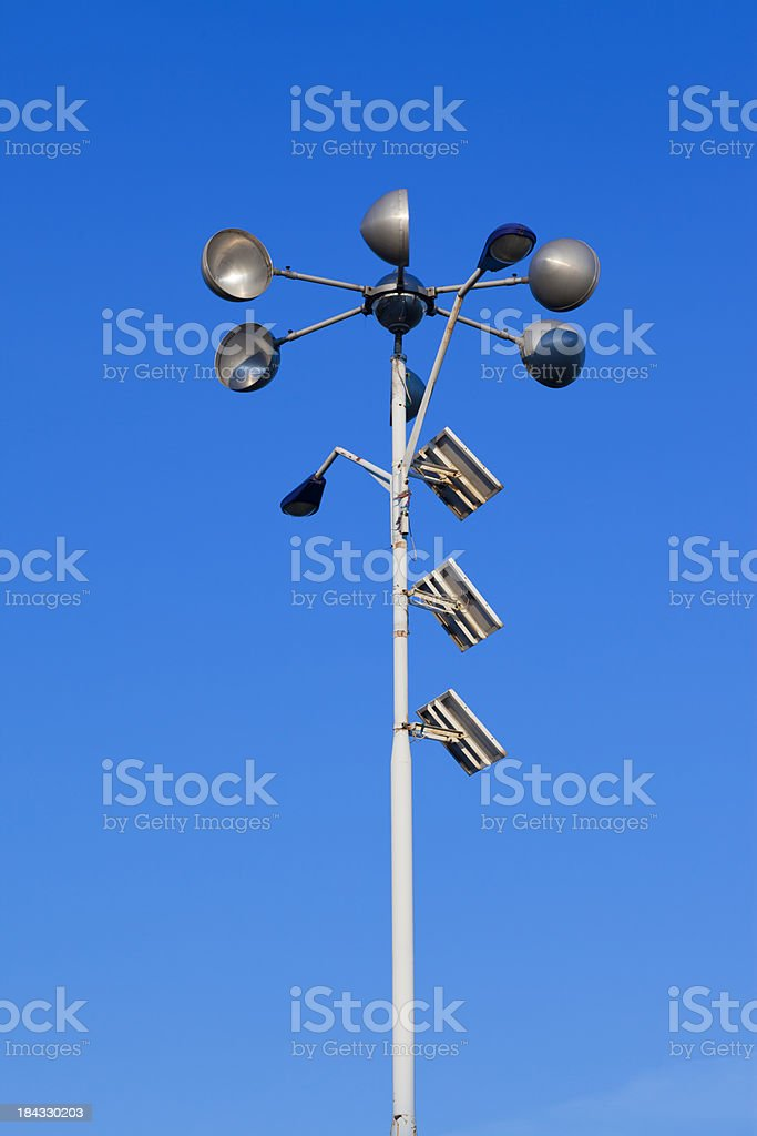 Solar and wind power lamp royalty-free stock photo