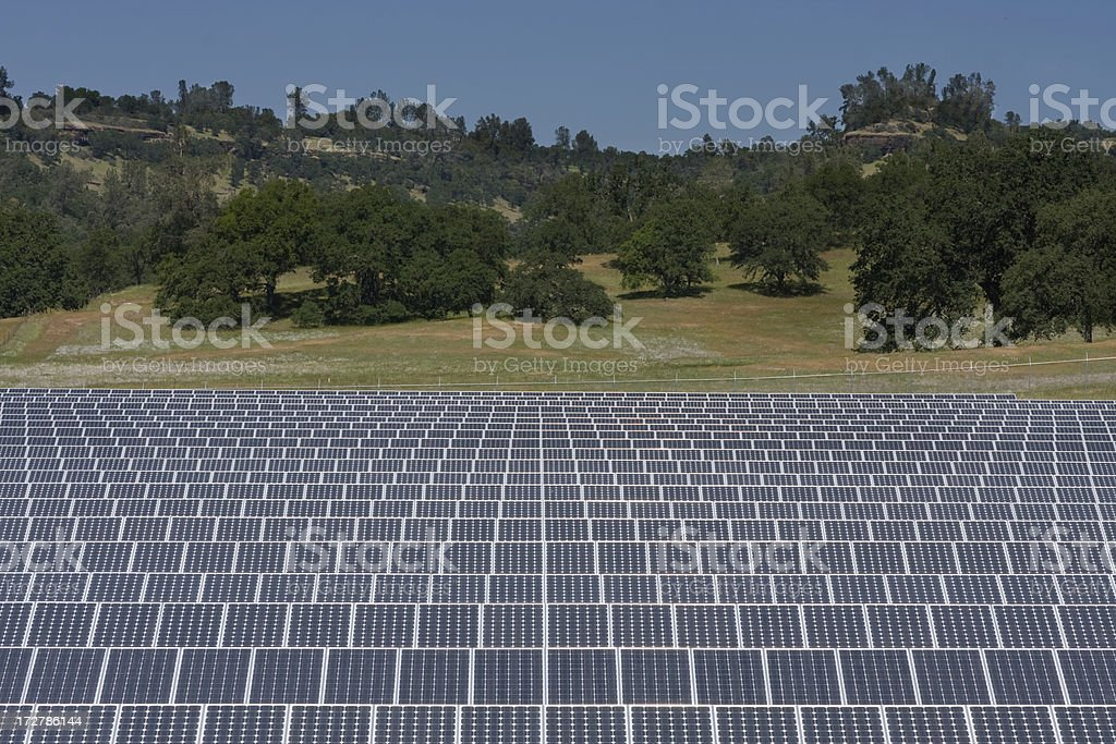 Solar Array on Scenic Hill royalty-free stock photo