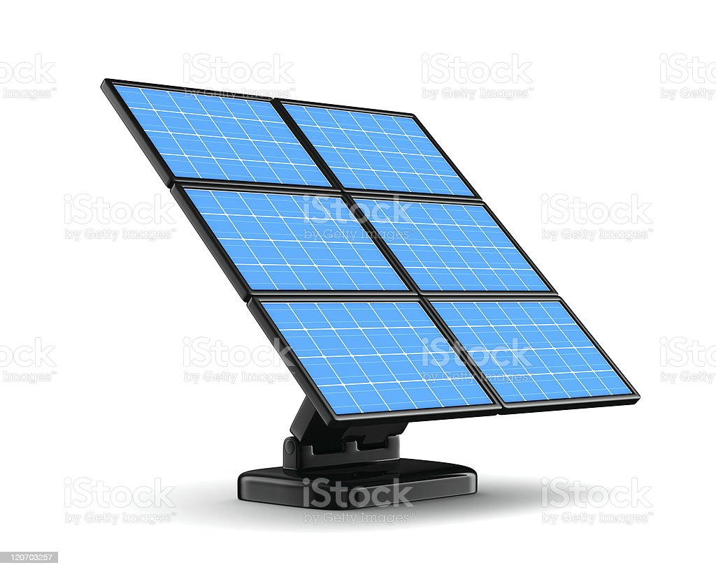 solar battery on white background. Isolated 3d image royalty-free stock photo