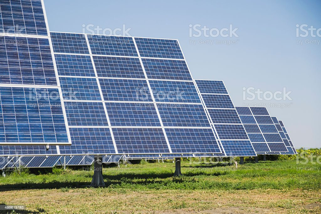 solar battery stock photo
