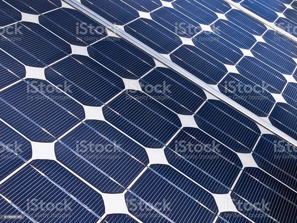 Solar cell detail stock photo