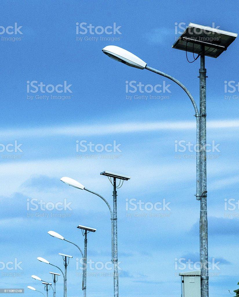 Solar Cell Lamp stock photo