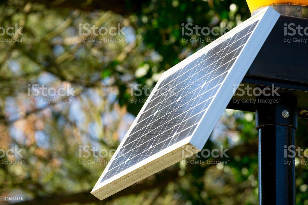 Solar cell panel, Ecology green energy stock photo