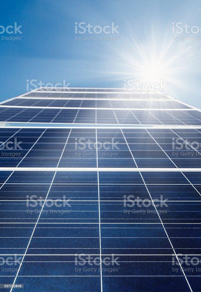 Solar cell power energy stock photo