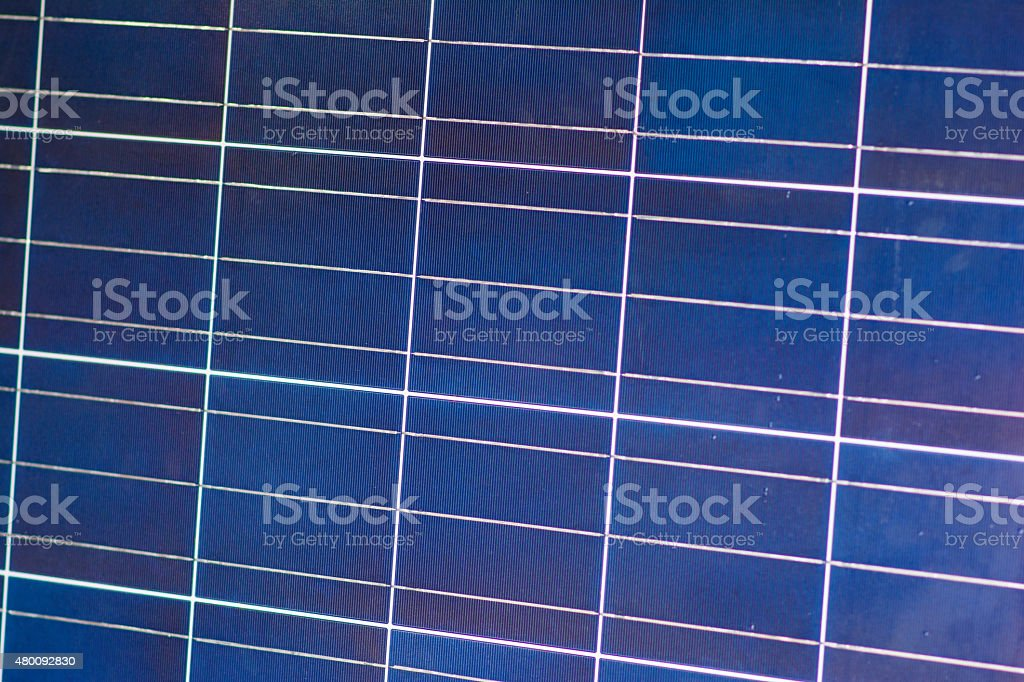 Solar cells for electricity production stock photo