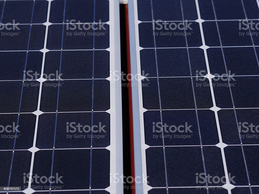 solar cells roof stock photo