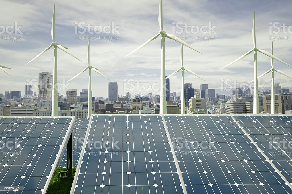Solar City stock photo