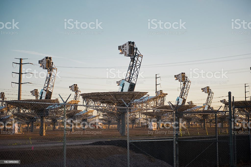 Solar Collector Dish Array royalty-free stock photo