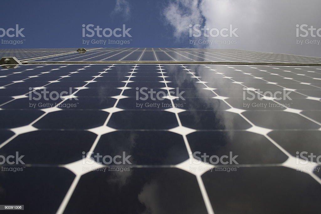 Solar collector panel 2 stock photo