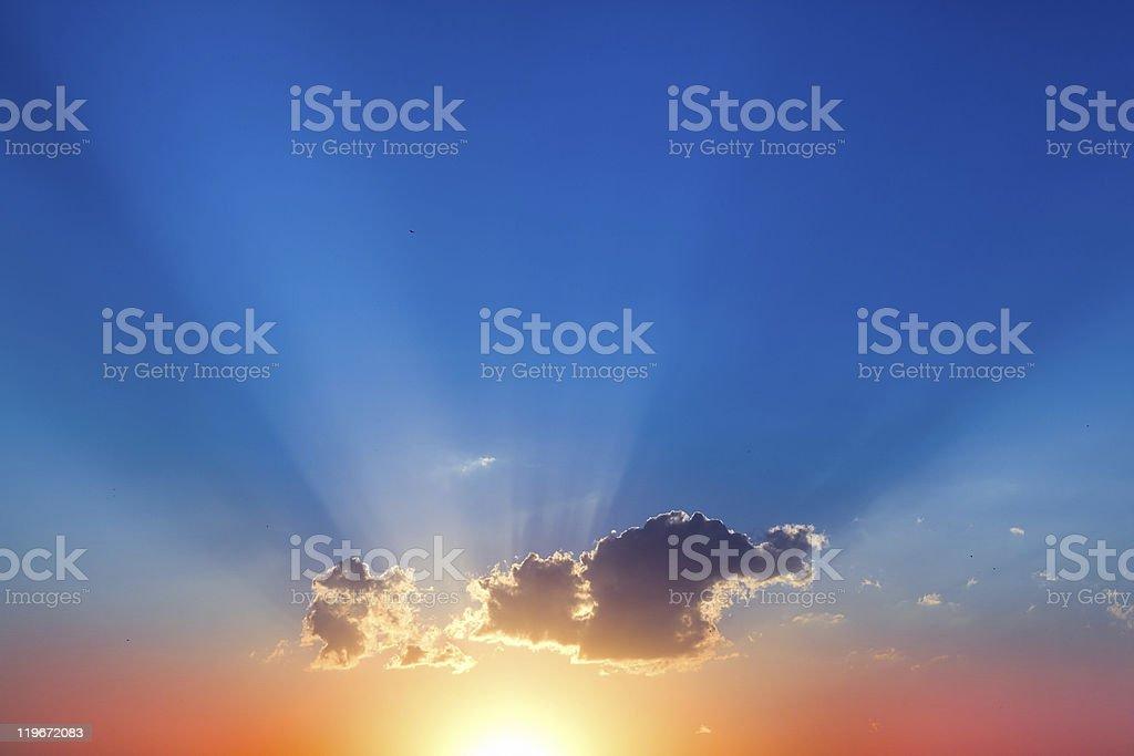 Solar decline stock photo