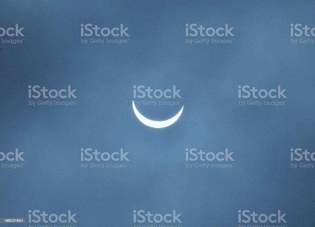 Solar eclipse 2015 stock photo