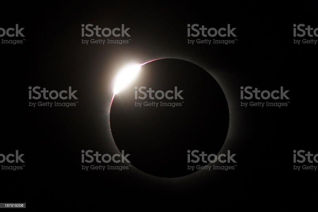 Solar Eclipse - diamond ring royalty-free stock photo