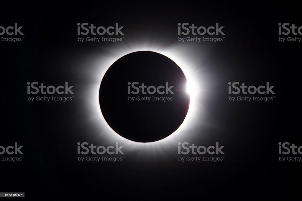 Solar Eclipse - diamond ring stock photo