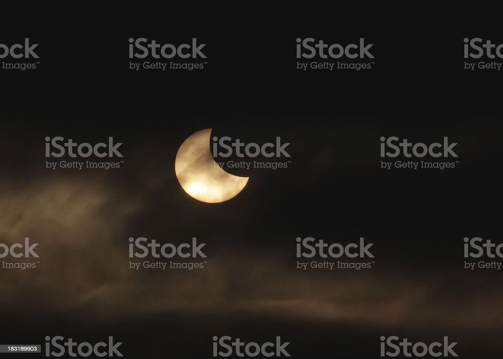 solar eclipse royalty-free stock photo