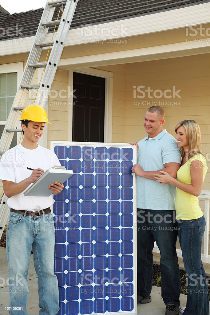 Solar Electric Home royalty-free stock photo