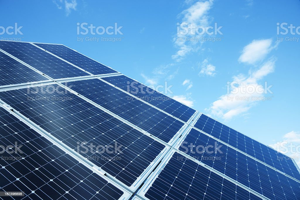 Solar Electric Power Technology royalty-free stock photo