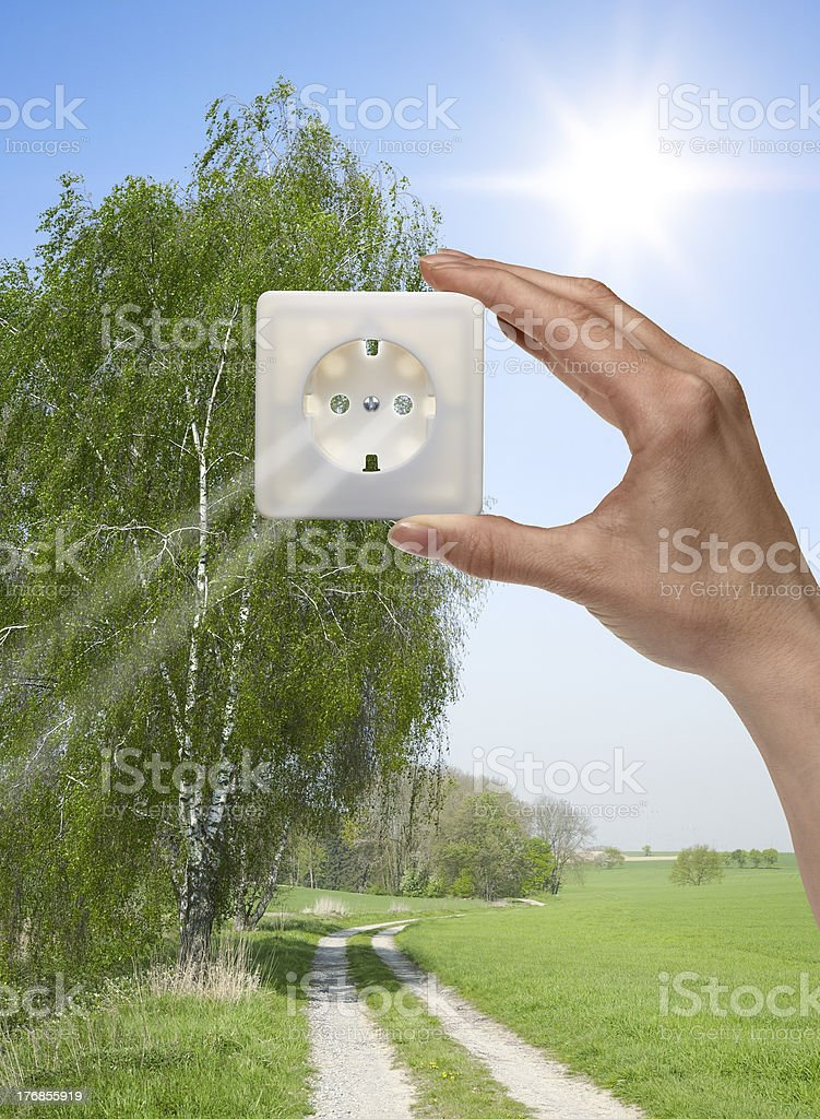 solar electricity royalty-free stock photo