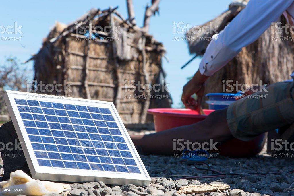solar energy Africa stock photo